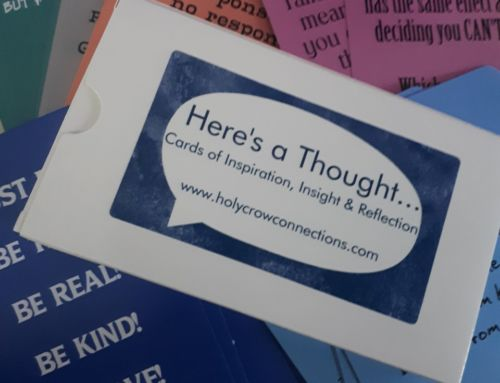 Here's a thought –  inspirational cards